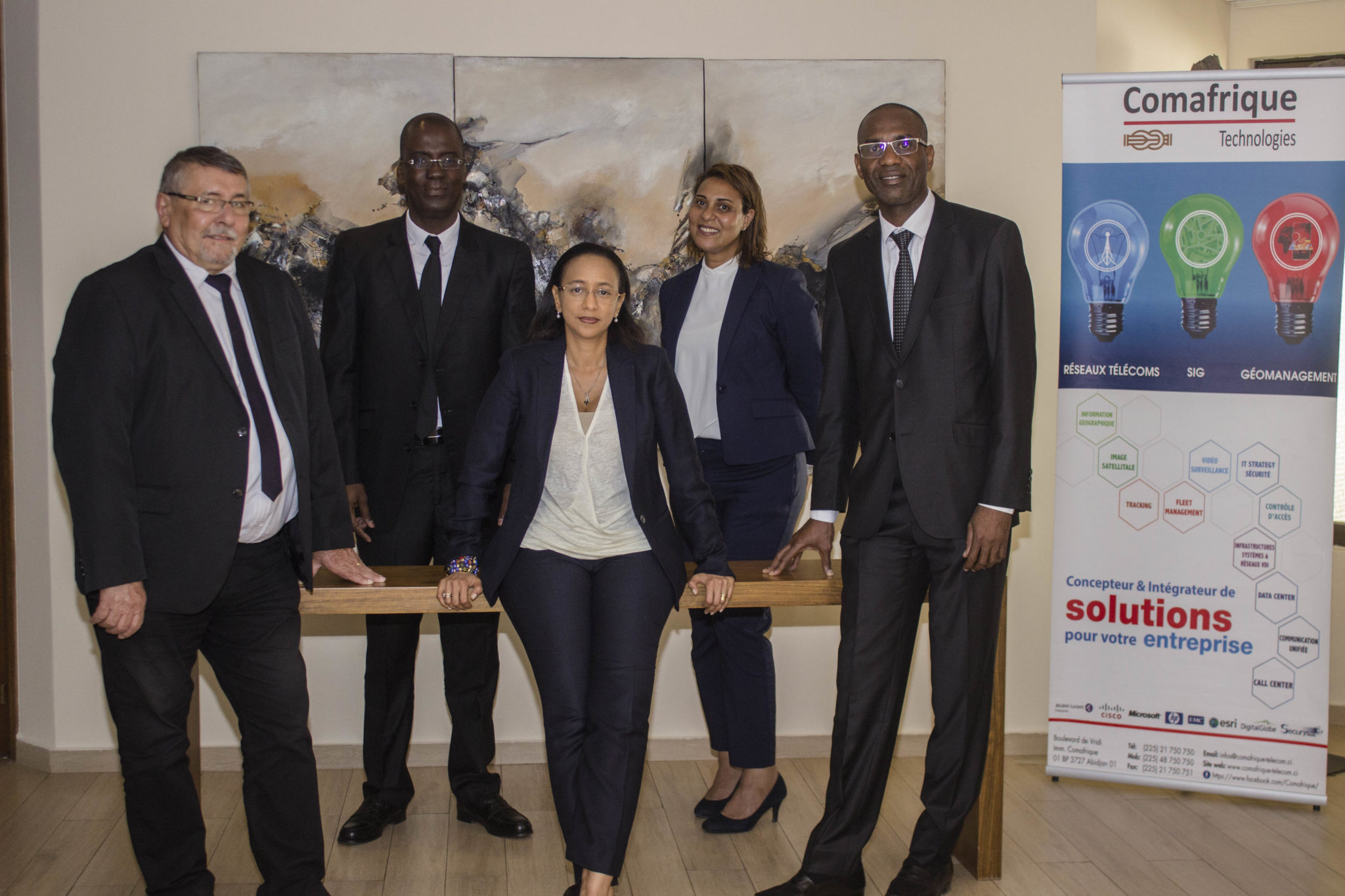 PHOTO DES PRINCIPAUX MEMBRES DIRIGEANTS DE COMAFRIQUE TECHNPOLOGIES